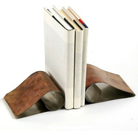 Curled Stainless Steel Bookends