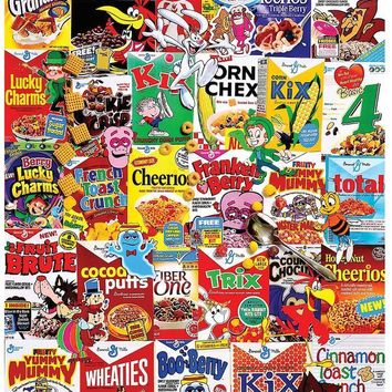 Cereal Boxes 1,000-Piece Jigsaw Puzzle