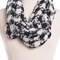 High Time Infinity Scarf, Black/White