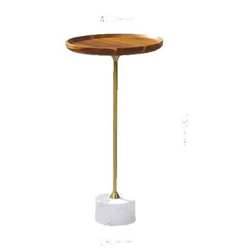 Golden Finish Antique Side  Table With Marble Top