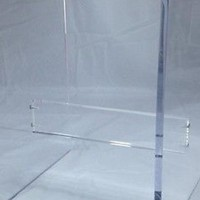 "1/2"" Clear Acrylic Lucite Plexiglass Shower Bench with Support Bar 