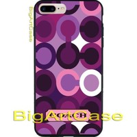 Best Beauty Coach Purple Violet Cool Print On Hard Plastic Case iPhone 7, 7 plus