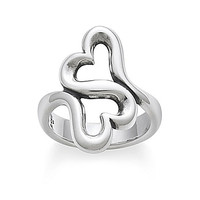 James Avery Heart To Heart Ring - Sterling Silver 8