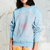 Vintage Renewal Pansy Sweatshirt in Blue - Urban Outfitters