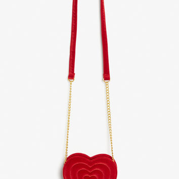 Heart bag - Winter berry - Bags - Monki GB