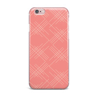 "Famenxt ""All A Blaze Abstract"" Coral Beige Illustration iPhone Case"