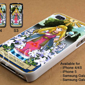 Princess Zelda Card Design for iPhone 4/4s/5 Case, Samsung Galaxy S3/S4 Case