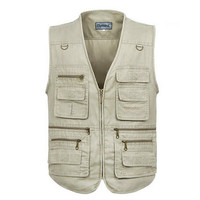 Men's Cycling Climbing Photographer Hunting Fishing Pockets Vest