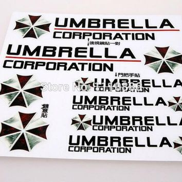 Newest 3D Resident Evil Umbrella Corporation Car Styling Decal Decoration Stickers for Tesla Toyota Chevrolet Volkswagen Lada