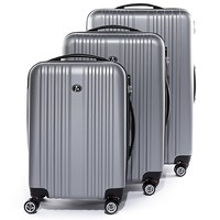 trolley-set: 3 suitcases cases Toulouse hard-shell luggage - 4 spinner wheels