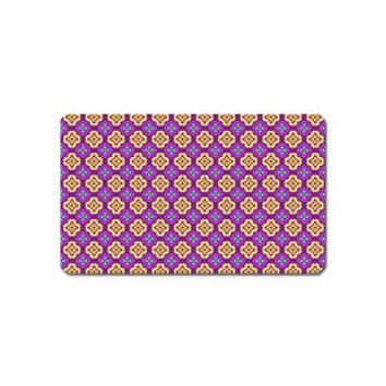 Purple Decorative Quatrefoil Magnet (Name Card)