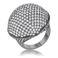 Dara 4.75ct CZ Hematite Dome Cocktail Ring