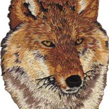 Red Wolf Iron-On Patch