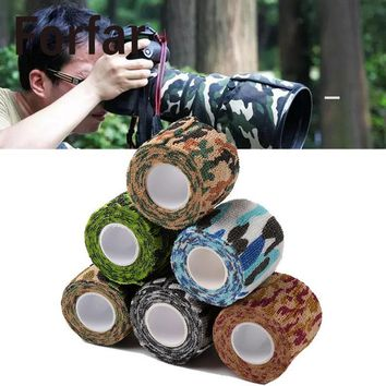 Outdoor Waterproof Camo Duct Tape Gun Hunting Camping Camouflage Stealth Tape Wrap Prevent From Scratches Outdoor tool