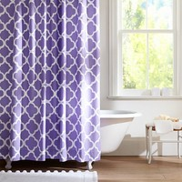Lucky Clover Shower Curtain, Purple