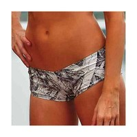 Wilderness Dreams Swim Women's Camo Boy Short - Naked North Snow - 606249