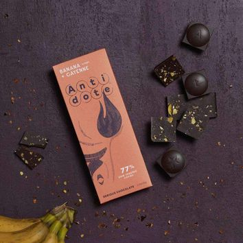 Antidote Chocolate - Hestia: Banana + Cayenne 77% with slow roasted cacao