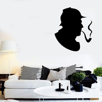 Wall Stickers Vinyl Decal Sherlock Holmes Detective Retro Decor  Unique Gift (z2301)