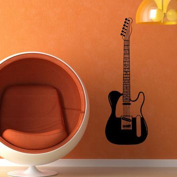 Guitar Wall Decal. Music wall decor. #OS_MB595