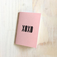 Small Notebook: Valentine's Day, XOXO, Cute, Light Pink, Valentine, Cute Notebook, Love, Valentine, Gift, For Her, For Him, Unique, RR226