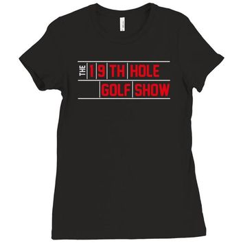 my best round is the 19th hole funny golf drinking Ladies Fitted T-Shirt