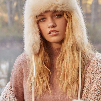 Fuzzy Faux Fur Trapper Hat | Urban Outfitters