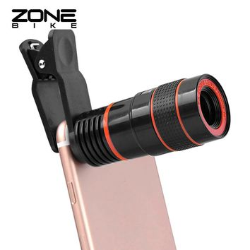ZONEBIKE 8 Times Mobile Phone Monocular Telescope Camping Hiking Hunting Monoculaire Fernglas Zoom Monoculair Jumelles Monoculo