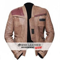 Finn John Boyega Poe Dameron Star Wars Leather Jacket - Best Deal