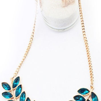 hot sale new fashion Multicolor ,  Blue ,Light blue  , Purple , White , Black  colors  Length 42cm(+5cm) Width of leafs 3cm  womens European Style stunning statement Bohemian Willow Necklace fashion jewelery