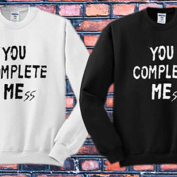 You Complete Me 5 Second Of Summer Luke Hemmings Crewneck Sweater   Available Size S,M,L,XL,XXL color black and white