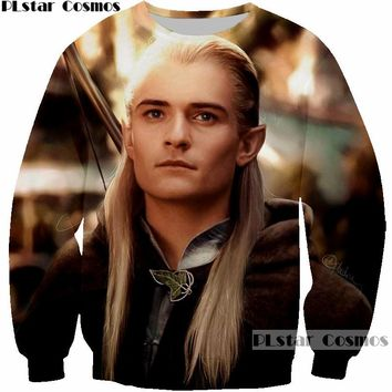 PLstar Cosmos The Lord of the Rings Elfing Prince Handsome Legolas Greenleaf 3D print Mans Sweatshirt Men Design Sweatshirts 5XL
