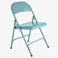 MACADAM BLUES Metal Blue metal folding chair - HabitatUK