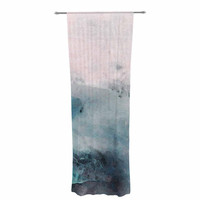 "Iris Lehnhardt ""Abstract Color"" Pastel Painting Decorative Sheer Curtain"