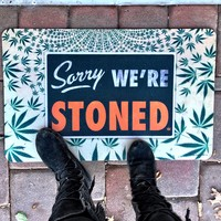 Sorry Stoned Floor Mat