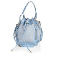 River Island Womens Light blue leather duffle bag