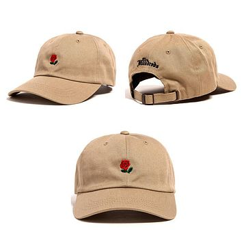 Rose Baseball Caps Women Snapback Cap Flower Summer Embroidery Curved Spring Snapback Caps Men Trapback Hip Hop Hats Bone