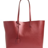 Saint Laurent East/West Leather Tote with Zip Pouch | Nordstrom