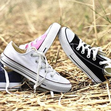 LMFUG7 Converse' Fashion Canvas Flats Sneakers Sport Shoes Low top Full color