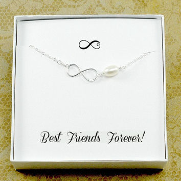 Infinity Bracelet for your Best Friend, Infinity Friendship Bracelet, Best Friend Gift, Silver Infinity Bracelet,  Best Friend Birthday Gift