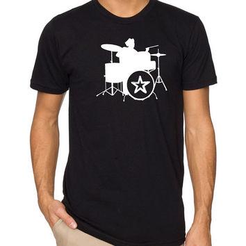 Band Tee Classic Drums MENS T-shirt Womens T Shirt Cool Shirt Boyfriend Gift Tshirt Graphic Tee Drums Band Tshirt