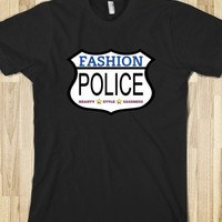 FUNNY FASHION POLICE DARK TEE