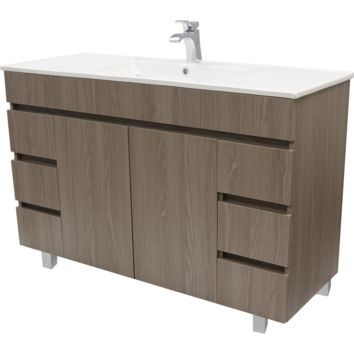 "Zeus 48"" Standing Bathroom Vanity Cabinet Set Bath Furniture With Single Sink Estepa/ White"