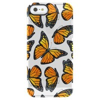 Monarch Butterfly Pattern Uncommon Clearly™ Deflector iPhone 5 Case