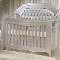 Alexa 5 in 1 Convertible Crib Diamond Tufted Panels