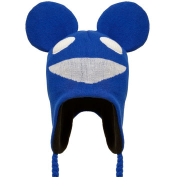 deadmau5 - Logo Blue Peruvian Knit Hat