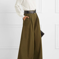 Alice + Olivia - Dustin cotton-poplin wide-leg pants