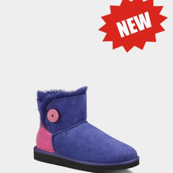 LFMON UGG 1004318 CONTRAST Women Fashion Casual Wool Winter Snow Boots Blue