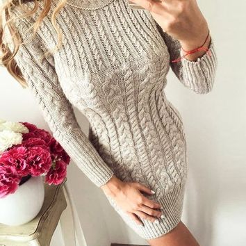 Vanessa Cute Knit Sweater Dress