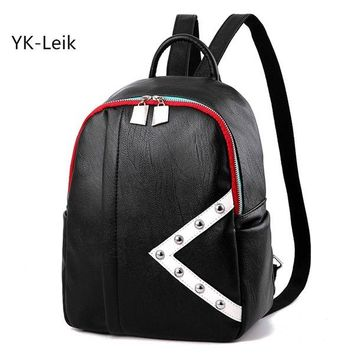 University College Backpack YK-Leik 2017 Korean fashion  style  for women High quality PU leather women s student Schoolbag for girlsAT_63_4