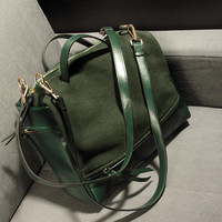 2013 female bags fashion vintage tassel nubuck leather big motorcycle bag portable messenger bag